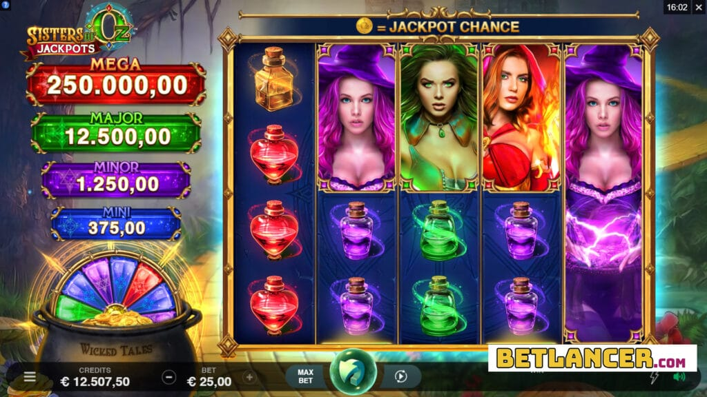 Sisters Of Oz Jackpots Slot Review