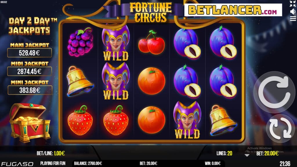 Fortune Circus Slot Review