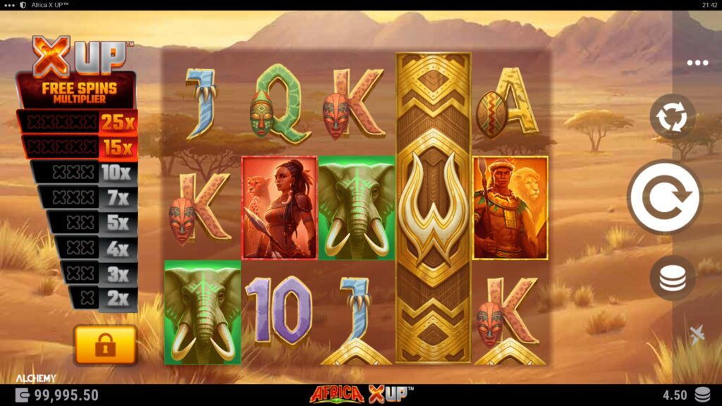 africa x up slot review