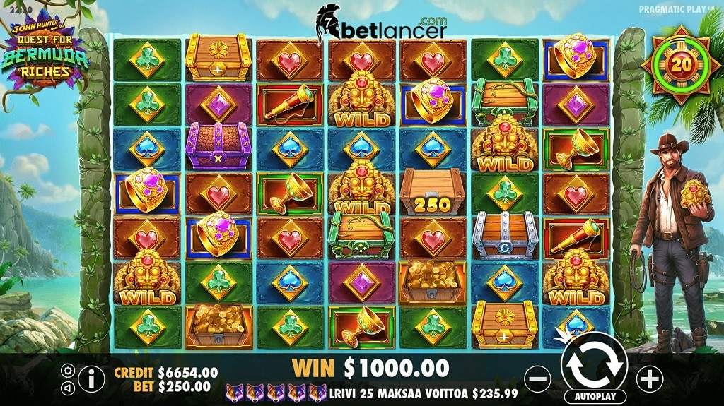john hunter quest for bermuda riches slot review